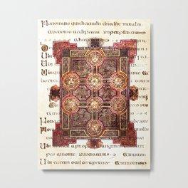 Book of Kells Carpet Page On Script Metal Print