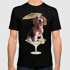 Tessi the party Beagle Mens Fitted Tee X-LARGE Black