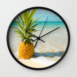 Pineapple Beach Wall Clock
