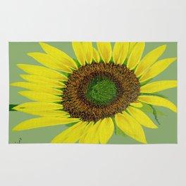 Sunflower painted  Rug