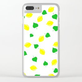 Lemon and Leaves Clear iPhone Case