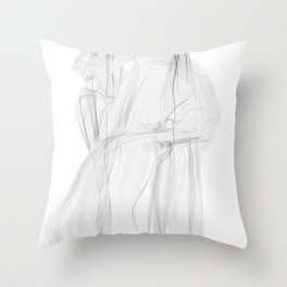 Koch Curve abstraction 02 Throw Pillow
