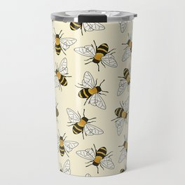Busy Bees Pattern Travel Mug