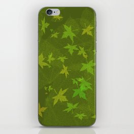 autumn season iPhone Skin