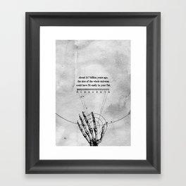 A Universe in a fist. Framed Art Print
