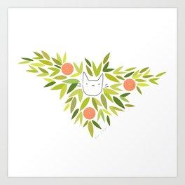 Clementine Cat Art Print