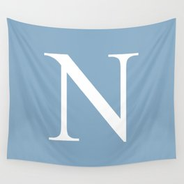 Letter N sign on placid blue background Wall Tapestry