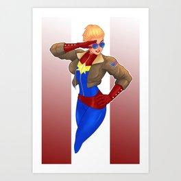 Captain Carol Danvers Art Print