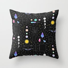 Witch Starter Kit: Astronomy - Illustration Throw Pillow