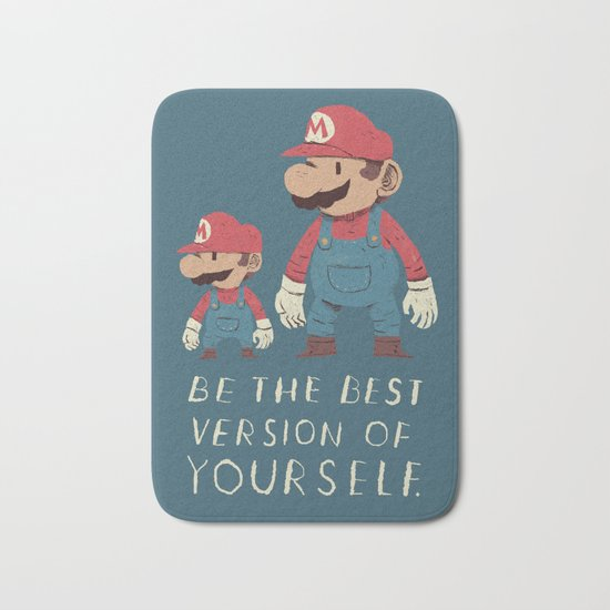 be the best version of yourself Bath Mat