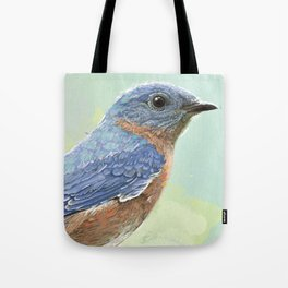 Eastern Bluebird In The Morning Tote Bag