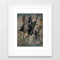 thegnarledbranch Framed Art Prints featuring Fowl Deaths by TheGnarledBranch