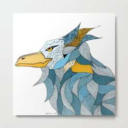 Mad bird Luca Metal Print