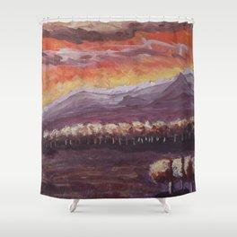 Evening Shower Curtain