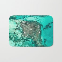 Thailand Ocean // A Modern Artsy Style Graphic Photography of Incredible Beautiful Teal Water Bath Mat