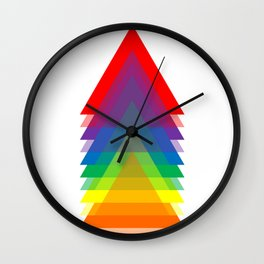 Rainbow Up! Wall Clock