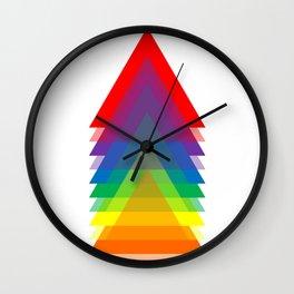 Rainbow Up! Wall Clock