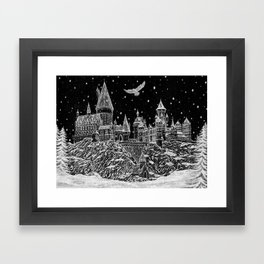Holiday at Hogwart Framed Art Print