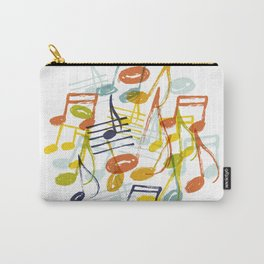 Hand drawn music notes Carry-All Pouch