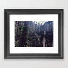 BRIDGE TO NOWHERE - landscape photography Framed Art Print