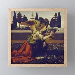 """Leonardo da Vinci """"Annunciation"""" The Archangel Gabriel Framed Mini Art Print"""