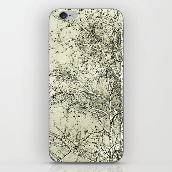 Sycamore Tree, Inky Green Toile Version iPhone & iPod Skin