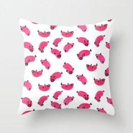 Piggies Throw Pillow