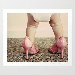 Chubs in Heels Art Print