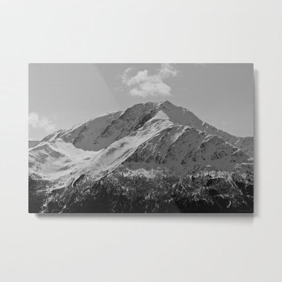 Snowy Alaskan Mountain Metal Print