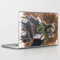 boba Laptop & iPad Skins featuring Boba Fett by KristinMillerArt