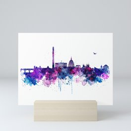 Washington DC Skyline Mini Art Print