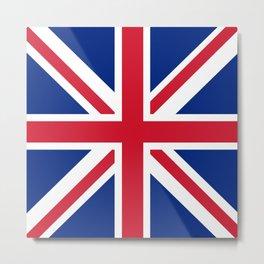 United Kingdom: Union Jack Flag Metal Print