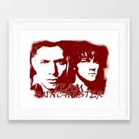 winchester Framed Art Prints featuring Team Winchester by Panda Cool