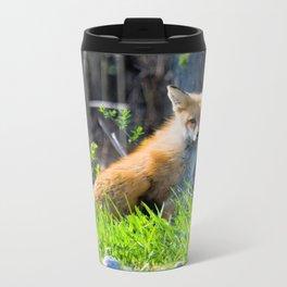I Am the Fox. Who Are You? Metal Travel Mug