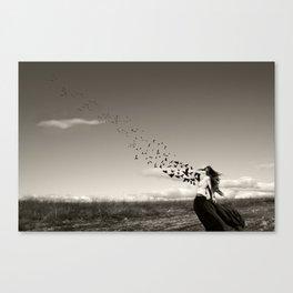 la liberación del alma Canvas Print