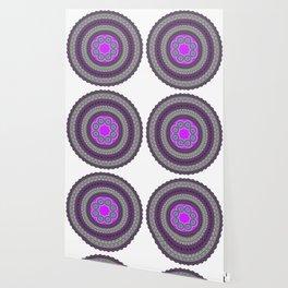 Round Pattern Ethnic Design Wallpaper