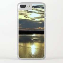 Ferris Wheel Sunset Clear iPhone Case