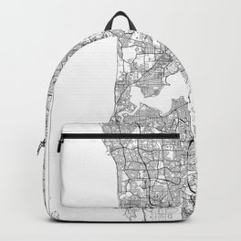 Perth Map White Backpack