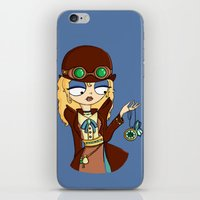 steampunk iPhone & iPod Skins featuring Steampunk by Laura Meg