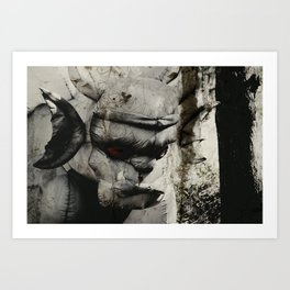 Ghoulish Gargoyle Art Print