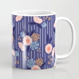 Blooms and Stripes Coffee Mug