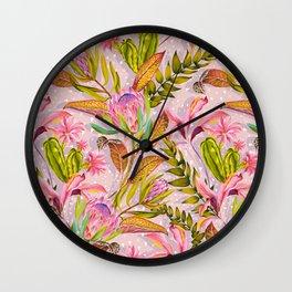 Botanical love pattern Wall Clock