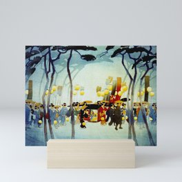 Japanese Covered Litter and Lanterns Mini Art Print