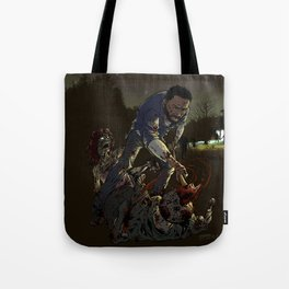 Fighting the undead Tote Bag