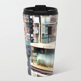 Railway station and semaphore Travel Mug