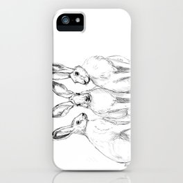 Three Hares sk131 iPhone Case