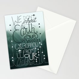 Inherit the Earth Stationery Cards
