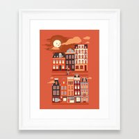 amsterdam Framed Art Prints featuring Amsterdam! by Marco Angeles
