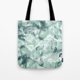 Marble Mist Green Grey Tote Bag