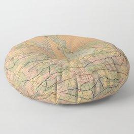 Vintage Map of Manitoba (1903) Floor Pillow